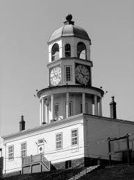 The famous clock on The Citadel, Halifax, Nova Scotia