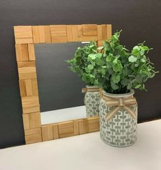 Jenga Blocks, Wood Blocks, Wood Block Crafts, Diy Apartment Decor, Mirror, Home Decor, Wooden Blocks, Decoration Home, Room Decor