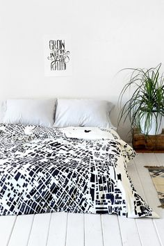 CityFabric Inc For DENY La White Duvet Cover- White from Urban Outfitters. Shop more products from Urban Outfitters on Wanelo. Interior Inspiration, Room Inspiration, Duvet Covers Urban Outfitters, City Layout, Diy Rangement, White Duvet Covers, Welcome To My House, Bed Sets, Interiores Design