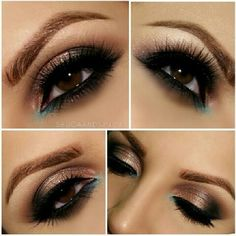 wakeupandmakeup -  Such a beautiful smoky brown look by @shugaandspice1