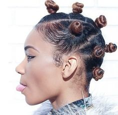 Bantu Knots Are Seriously One OF The Best Black Girl Hairstyles Ever! [Gallery]  Read the article here - http://www.blackhairinformation.com/general-articles/playlists/bantu-knots-seriously-one-best-black-girl-hairstyles-ever-gallery/