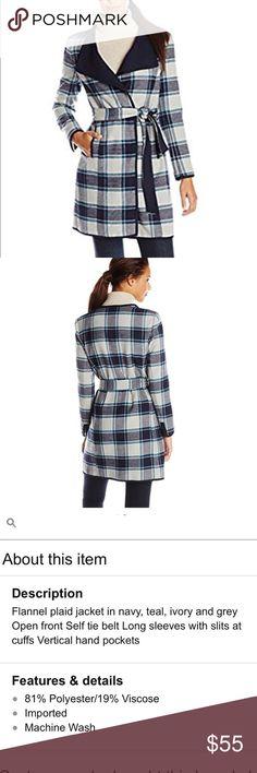 Jones New York plaid coat size M Brand new coat with tags size M Jones New York Jackets & Coats Pea Coats