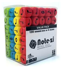 Note∙zi Wooden Music Dice Value Pack Ginnifer Goodwin, Jennifer Morrison, Piano Lessons, Lessons For Kids, Music Lessons, Music Theory Games, Music Games, Music Music, Blues Music