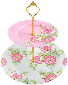 Creative Tops Katie Alice Candy Flower Porcelain 2 Tier Cake Stand