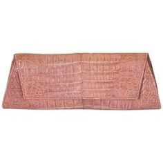 94693936c028 Italian Pink Crocodile Clutch Vintage Clutch