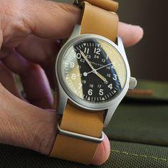 """7 """"Μου αρέσει!"""", 1 σχόλια - G. (@greenstraps) στο Instagram: """"VL series leather nato strap offer,ideal for tritium look patina also #leather…"""""""