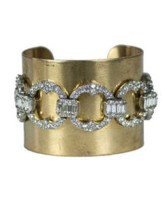 "THE ORIGINAL RHINESTONE CUFF BRACELET AND OUR BEST SELLER.  MADE WITH A TRUE VINTAGE RHINESTONE BRACELET.   NO NEW REPRODUCTIONS HERE.  2"" WIDE BRASS CUFF.  EACH VINTAGE RHINESTONE BRACELET IS UNIQUE IN DESIGN.  SQUEEZE TO ADJUST TO WRIST.  IMPERFECTIONS, AGING & SCUFFING TO CUFF ARE INTENTIONAL.  ONE OF A KIND"