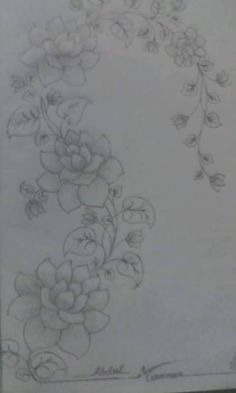 Hand Embroidery Stitches, Hand Embroidery Designs, Applique Designs, Beaded Embroidery, Floral Embroidery, Embroidery Patterns, Fabric Paint Designs, Hand Painted Fabric, Flower Coloring Pages