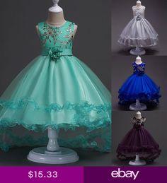 30bb777eeb3 Kid Girl Flower Bow Princess Dress Irregular Hem Party Wedding Bridesmaid  Dress Tutu Dresses