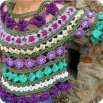 Blusa de Encaje a Crochet