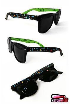 Custom Wayfarer style sunglasses Pacman unique hand painted