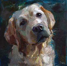 """- Dogs - Daily Paintworks - """"Amigo - a white labrador, a dog"""" - Original Fine Art for Sal. Daily Paintworks - """"Amigo - a white labrador, a dog"""" - Original Fine Art for Sale - © adam deda. Custom Dog Portraits, Pet Portraits, Portrait Paintings, White Labrador, Labrador Dogs, Original Art, Original Paintings, Dog Illustration, Illustrations"""