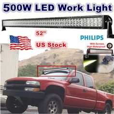 Cree 288w 52 curved led light bar wireless remote control 52inch 500w led work light bar spot flood combo beam 4wd atv suv offroad 300w mozeypictures Choice Image