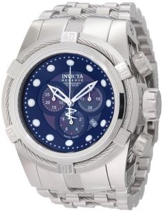 Invicta Men's 0820 Reserve Chronograph Black Mother of Pearl Dial Stainless Steel Watch Invicta. $529.99. Chronograph function with 60 second, 30 minute and 1/10 the of a second subdials; date function. Black mother of pearl dial with silver tone hands and hour markers; luminous; unidirectional stainless steel bezel with stainless steel rope accent; screw-down crown. Swiss quartz movement. Flame-fusion crystal; brushed stainless steel case and bracelet with stainless st...