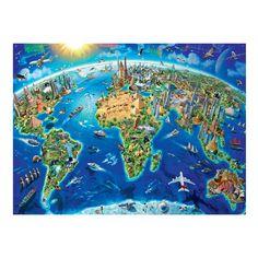 Ravensburger World Landmarks Map 300pc Puzzle