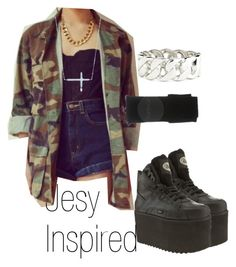 """""""Jesy Inspired"""" by candela-829 ❤ liked on Polyvore featuring Paloma Picasso and Topshop"""