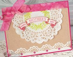 Mother's Day card designed by Sharon Harnist designed using Vintage Rose Medallions, Lace Edges One