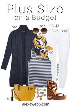 Plus Size on a Budget – White Jeans Outfit - Plus Size Spring Outfit Idea - Pl. - Plus Size on a Budget – White Jeans Outfit – Plus Size Spring Outfit Idea – Plus Size Fashion - Outfit Jeans, Cardigan Outfits, Jean Outfits, Tunic Dresses, Dress Tops, Dresses Uk, Fall Dresses, Evening Dresses, Summer Dresses