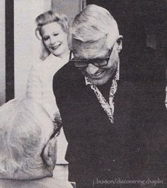 Cary Grant greeting Chaplin in 1972                              …