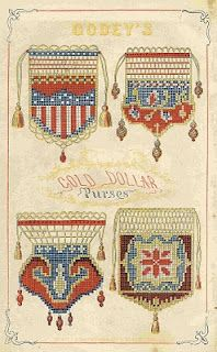 Godey's Lady's Book purse designs