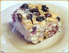 BIZZY BAKES: Blueberry Sour Cream Cake - Gluten-free