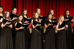 The A Cappella Choir is made up of sophomore, junior, and senior students.