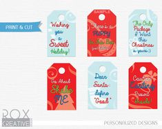 Creative & Funny Christmas Gift Tags Instant by RoxCreativeDesign