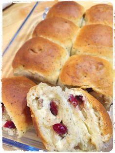 Cranberry cream cheese bread クランベリークリームチーズパン