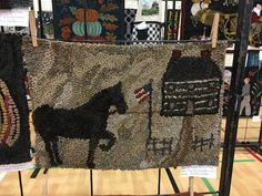 Hand Hooked Rugs, Penny Rugs, Wool Applique, Punch Needle, Rug Hooking, Muted Colors, Worms, Appliques, Simple Designs