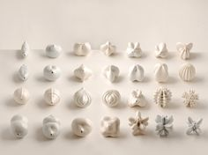 Seed bed - 3D printed porcelain ceramics by artist potter Jonathan Keep
