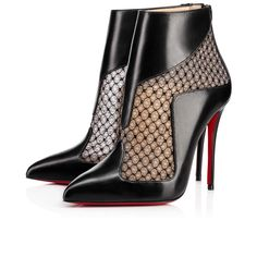 Papilloboot 100 Black Dentelle - Women Shoes - Christian Louboutin