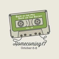 "The Homecoming 2017 theme, ""Back in the Mix, Back on the Bricks,"" honors the School of Music's 100th anniversary and the Marching 110's 50th. The theme is a nod to memories of DJs and musicians mixing it up on the radio and on OHIO's bricks.   Alumnus Tim Martin (BFA '10) and OHIO sophomore Nik Williams submitted the logo selected by the Homecoming Committee to illustrate the theme. Read more about this collaboration here…"