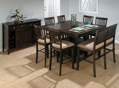 Mix Match Counter Height Dining Table With Storage Pedestal Base - High top dining table with bench