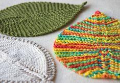 Leafy Washcloth pattern by Megan Goodacre #knit # free_pattern