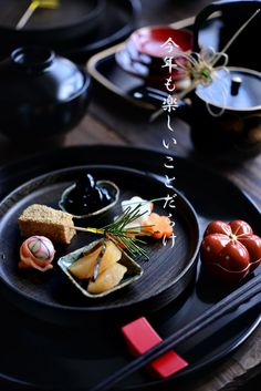 - The new year Japanese traditional dish Japanese Menu, Japanese Dishes, New Year's Food, Mets, Food Presentation, Food Design, Food Pictures, Food Art, Food Photography