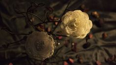 Japanese style singed lace camellia fabric flower