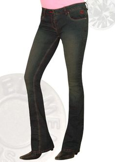 Power Stretch Vintage Wash Boot Cut Jeans