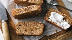 Wheat free, low-dairy - this oh-so-good-for-you banana bread is delicious fresh, or toasted. Paleo Banana Bread, Banana Bread Recipes, Bacon Zucchini Muffins, Sugar Free Recipes, Sweet Recipes, Paleo Sweets, Paleo Food, Food Allergies, Lamb Skewers