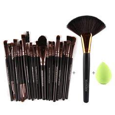 $8.02 Stylish 21 Pcs Multifunction Nylon Face Eye Lip Makeup Brush Set and Sponge Blender