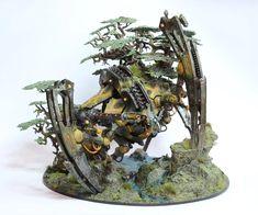 The Seraptek Heavy Construct Awakens! Warhammer 40k Necrons, Warhammer Paint, Warhammer Models, Warhammer 40k Miniatures, Swamp Theme, Imperial Knight, Tyranids, Game Workshop, Mini Paintings
