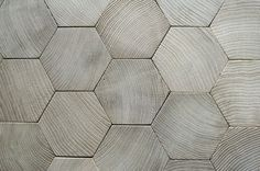 Hexagonal oak parquet