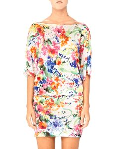 Floral Explosion - Blugirl Spring Summer 2014 • Finely knitted from soft viscose this figure-flattering dress features a summer flower print. Perfect for a lunch with your friends  you can easily wear it with sandals.