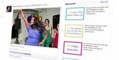 Dove ad makeover nav alle negatieve reclame op Facebook. Maak nu nieuwe advertenties met een positieve lading via de app op Facebook.