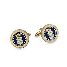 Add a touch of patriotic style to your sleeves. These official military insignia of the US Air Force cufflinks are crafted in a colored enamel finish on a gold-plated setting. In honor of all the men and women that serve our country. Air Force Wedding, Military Insignia, Wedding Favors For Guests, Grad Gifts, Us Air Force, Cufflinks, Silver, Gold, Enamel