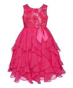 Look what I found on #zulily! Watermelon Sequin Ruffle Dress - Infant, Toddler & Girls #zulilyfinds