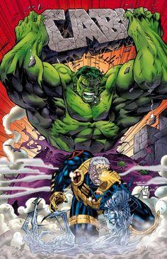 #Hulk #Fan #Art. (Cable & Hulk) By: Ian Churchill.