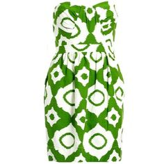shoshanna ikat dress. i want this for st. pattys day!