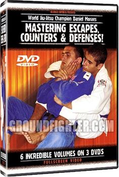 Daniel Moraes - Mastering Escapes, Counters & Defenses Brazilian Jiu-Jitsu 6 Volume DVD Set by World Martial Arts. $49.99. With 2-Time World Jiu-Jitsu Champion, Daniel Moraes, this amazing new DVD series contains the hottest and most advanced escapes and defenses you will ever see! You will also learn the newest methods of defeating the top guard positions including the Spider, Butterfly, De La Riva, X-Guard and much more. There is even section on how to defeat the Arm Drag! Thi...