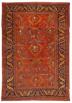 Antique Bidjar Carpet (Bijar (or Bidjar) Kurdish rugs are often called the Iron Rugs of Iran. The Bijar was a heavy, durable rug)