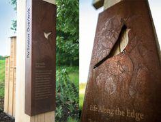 Botanic garden exhibit design for Longwood Gardens Zoo Signage, Wayfinding Signs, Signage Design, Environmental Graphic Design, Environmental Graphics, Longwood Gardens, Outdoor Signage, Exterior Signage, Botanical Gardens